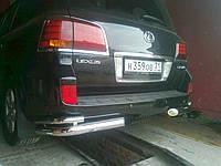 Защита заднего бампера (двойной угол) Toyota Land Cruiser 200