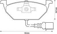Тормозные колодки VOLKSWAGEN GOLF PLUS (5M1, 521) 01/2005- дисковые передние, Q-TOP  QF2756E