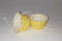 Форма из пергамента с бортиком с желтую полоску