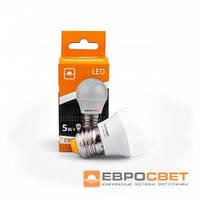 Лампа светодиодная Евросвет шар Р-5-3000-27  5вт 230V