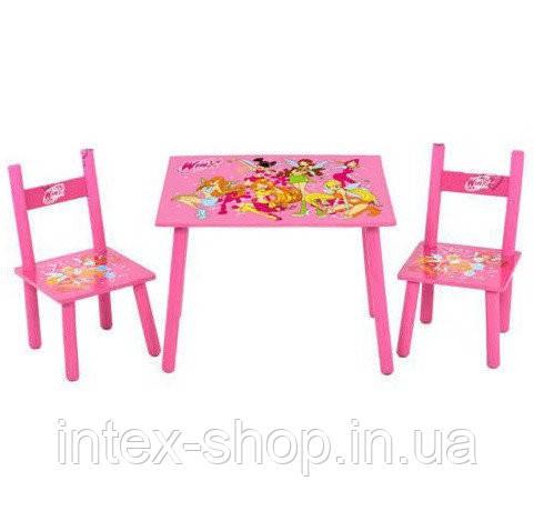 Столик M 1508 дерев'яний, 2 стільця