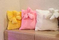 Светящаяся подушка Гламур с бантиком