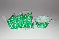 Бумажная форма с бортиком с зеленым рисунком