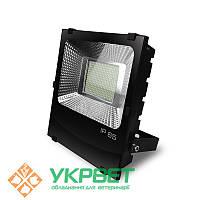 LED SMD Прожектор черный с радиатором 200W 6500K