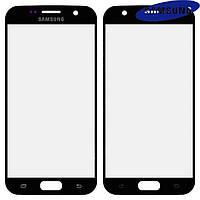 Стекло корпуса для Samsung Galaxy S7 G930F, 2.5D, черное, оригинал
