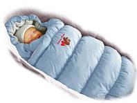 Конверт-пуховик Ontario Baby Inflated-A (дутик 50х90) голубой