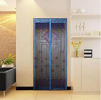 Дверная москитная сетка 210 * 100 с изображением на сплошных магнитах