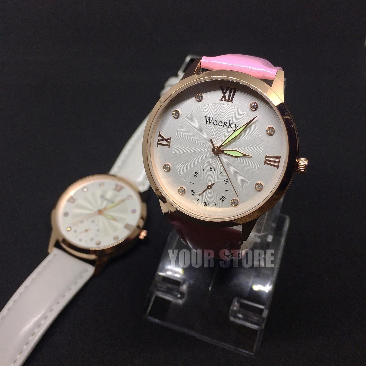 Розовые женские часы Weesky