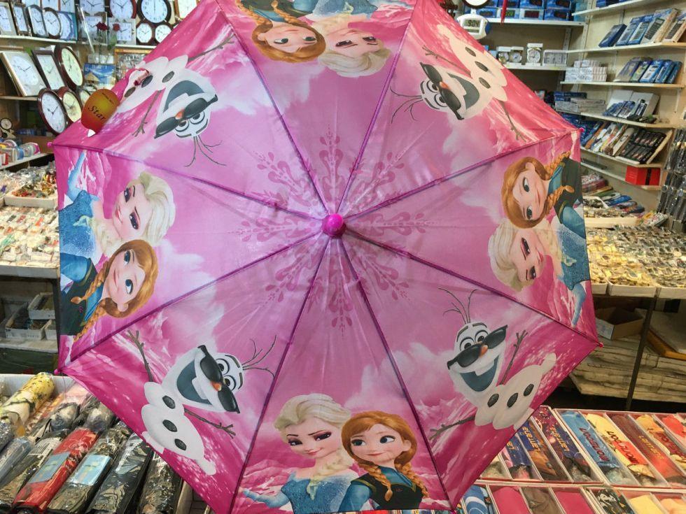 """Детский зонт трость Star Rain """"Холодное сердце 2"""" полуавтомат, 8 спиц"""