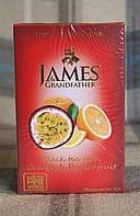 """Чай James & Grandfather """"Orange and Passionfruit """" черный с апельсином и маракуйей 100 г"""