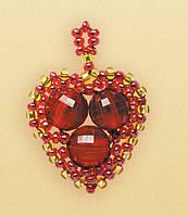 Наборы для плетения из бисера Riolis «Алое сердечко» Б-166