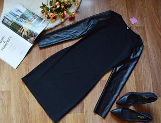 """Платье с кожаным рукавом """"Milana"""", фото 3"""