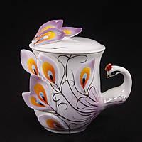 Чашка жар-птица фиолетовая