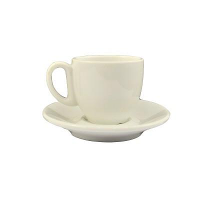 Чашка с блюдцем,  кофейная, белого цвета, 90 мл.