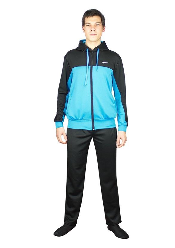 мужской спортивный костюм сочетание черного и голубого - фото teens.ua