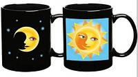 Кружка-хамелеон Солнце и луна
