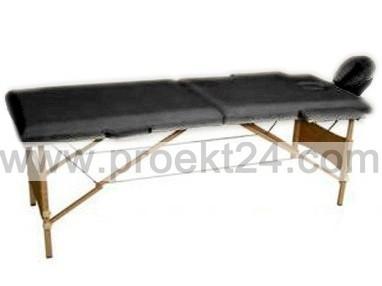 Массажный стол 2-х секционный черный