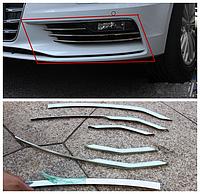 Audi A3 8V 2012-15 хромовые накладки на решетки переднего бампера Новые