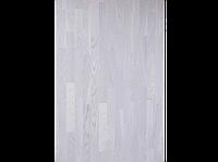 Паркетная доска BeFag Дуб Robust, жемчужно-белый лак (3-х полосник)