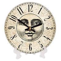 Круглые часы настольные с принтом