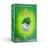 """Чай James & Grandfather """" Green Tea with Soursop"""" зелёный с суасепом 100 г"""