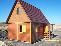 Каркасный деревянный гостевой (дачный) домик 4.4м х 6м
