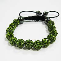Браслет женский Шамбала зеленый