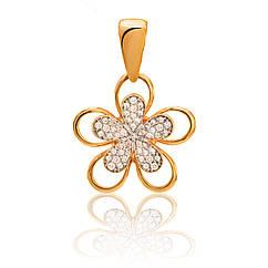 Золотой подвес Цветок