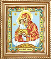 """Схема для вышивки бисером на атласе икона """"Богоматерь Почаевская"""""""