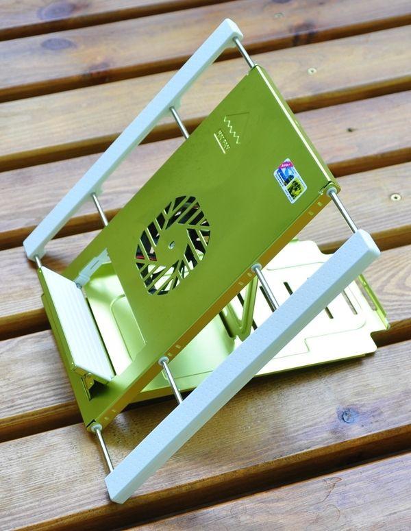 Охлаждающая мини подставка для ультрабуков и планшетов. Зеленый.