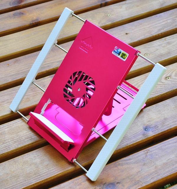 Охлаждающая мини подставка для ультрабуков и планшетов. Розовый