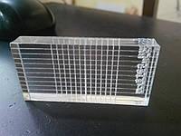Акриловый блок для настройки и выравнивания положения звукоснимателя. Acrylblock.
