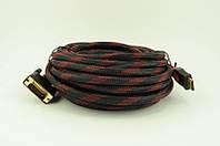 Видео кабель VGA/DVI 2 ферит. 10 метров, конвертер переходник, кабель vga dvi