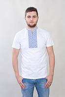 Трикотажная футболка вышиванка мужская