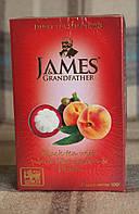 "Чай черный James Grandfather with White mangosteen and Peach, 100 g.""Белый мангустан и Персик"""