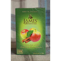 "Чай зелёный James Grandfather with Apple and Cinnamon, 100 g, ""Яблоко и корица"""