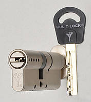 Цилиндр Mul-t-lock Classic 110мм (45х65T) ключ-тумблер никель-сатин