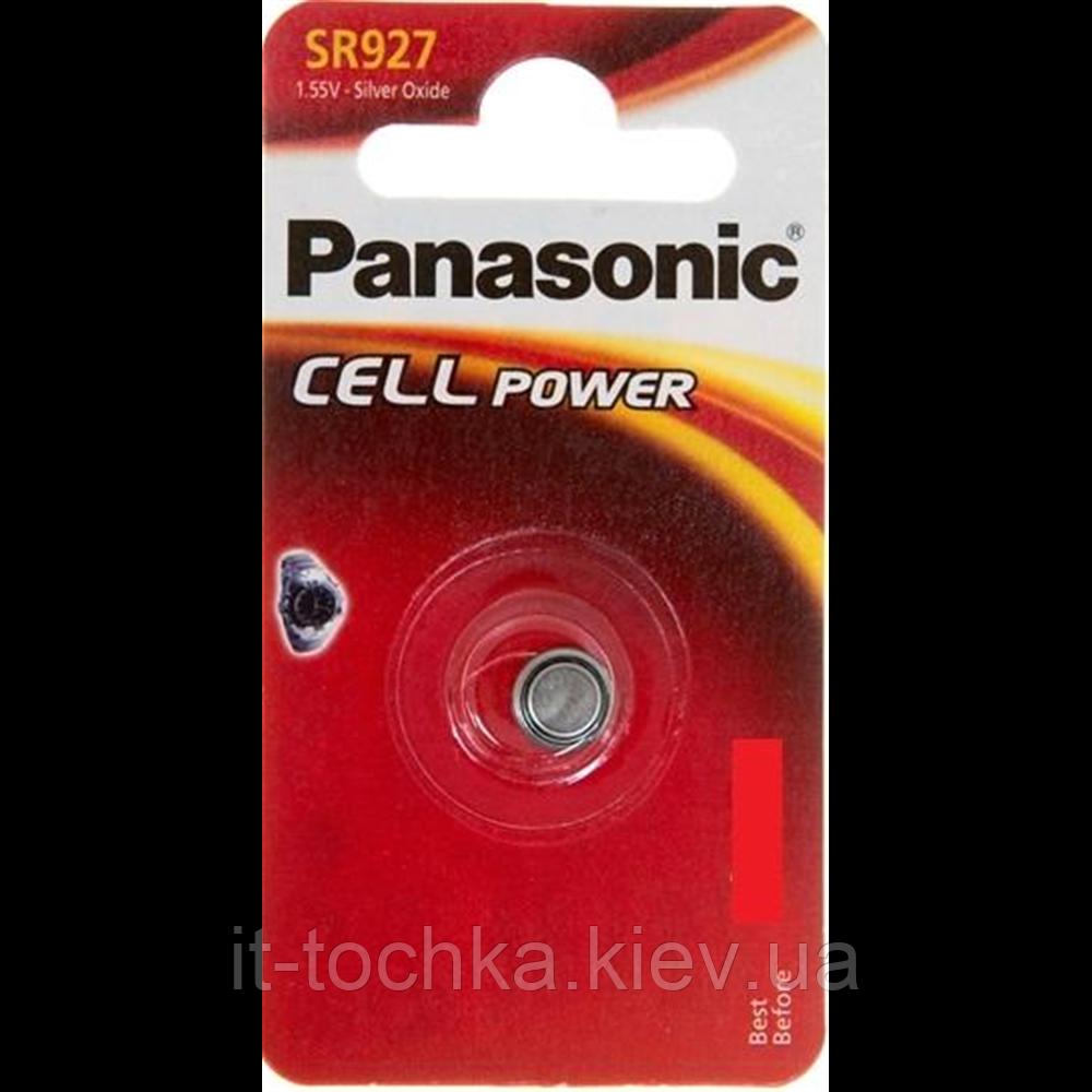 Серебряно-цинковая батарейка panasonic sr-927 el 1b