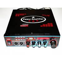 Стерео усилитель звука UKC SN-308AC. Интегральный усилитель. Хорошее качество. Доступная цена.  Код: КГ187