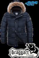 Куртка зимняя с мехом батал Big & Stylish 1365B