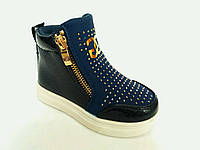 Модные демисезонные ботинки на платформе для девочек, р. 23 - 28