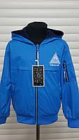 Куртка ветровка двухсторонняя для мальчиков.Размеры 8-16 см.Фирма S&D,Венгрия