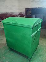 ЕвроКонтейнер для мусора металл 2мм, 1,1 м.куб., (грунт+эмаль ПФ-115),  доставка по Украине