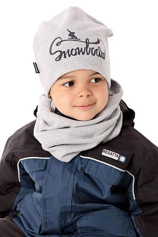 Теплая вязанная шапочка для мальчика от MARIKA Польша, фото 2