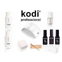 Стартовый набор гель лаков Kodi с LED на 24 Вт