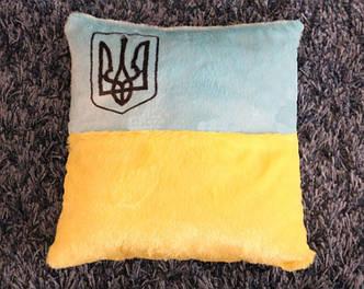 Светящаяся подушка с флагом и гербом Украины