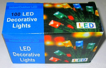 Гирлянда 100 ламп, 4,2 м. LED