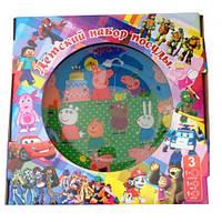 """Подарочный набор детской посуды с героями мультфильмов""""Свинка Пеппа""""."""