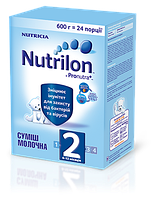 """Детское питание """"Смесь молочная сухая Nutrilon 2"""" для питания детей от 6 до 12 месяцев (600 грам)"""