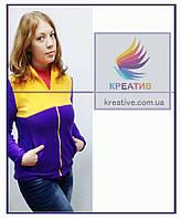ОПТ Двухцветные флисовые кофты с возможностью нанесения логотипа (заказ от 50 шт.), фото 1